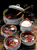 "Ukrainian ""Borshch"" - cabbage, beetroot & tomato soup"