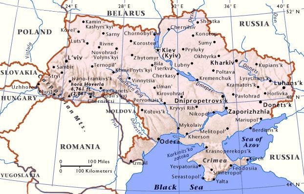 Kiev Travel Guide Map of Ukraine